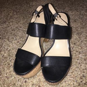 Coach wedges! Worn once!